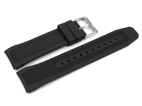 Genuine Lotus Black Rubber Watch Strap for 10109