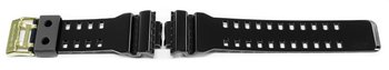 Casio Shiny Black Watch strap with Gold Tone Buckle for...