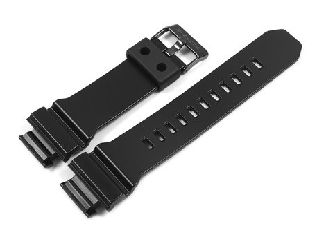 Genuine Casio Black Resin Replacement Watchstrap f. GD-X6900-1 - Black Stainless Steel Buckle