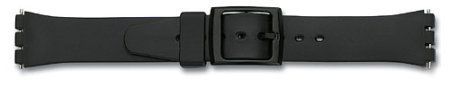 Watch band - rubber - for Swatch - black  - 17mm