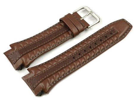 Brown Leather Watch Strap Lotus for 15759, 15759/2