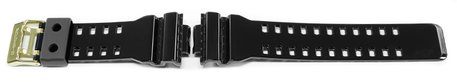 Casio Replacement Shiny Black Watch strap for GA-110GB, GA-110GB-1 with Gold Tone Buckle