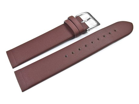 Screw Type Brown Leather Watch Strap