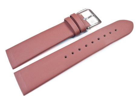 Screw Type Terracotta Coloured Leather Watch Strap