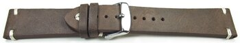 Watch strap - Genuine leather - Soft Vintage - dark brown...