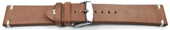Watch strap - Genuine leather - Soft Vintage - brown 24mm...
