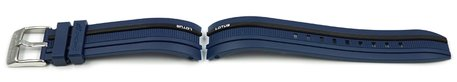 Dark Blue Rubber Lotus Watch Strap for 15881/1, 15881 - black stripe