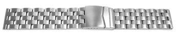 Metal watch band - Stainless steel - brushed - 24,26 mm