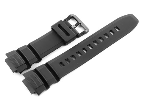 Black Resin Replacement Watch strap Casio f. W-S220-1A, W-S220-9A