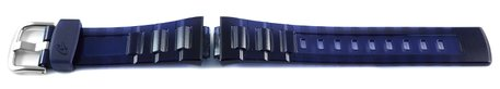 Blue Resin Watch Strap Casio for BGA-3000A, BG-3000A, shiny surface