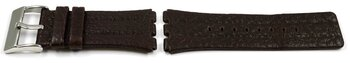 Dark Brown Leather Watch Strap Lotus for 15478/2, 15477/2