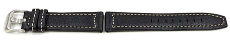 Lotus Black Leather Watch Strap for 15433