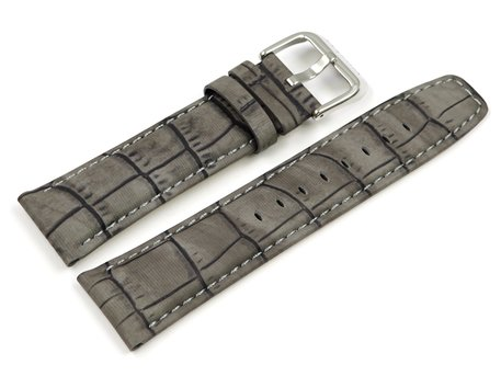 Genuine Festina Grey (Grey-Brown) Leather Watch strap for F16573