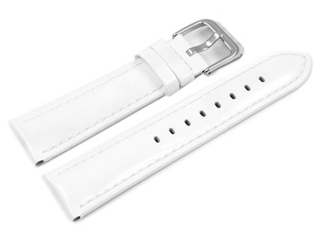 Lotus White Leather Watch Strap for 15746/1, 15746