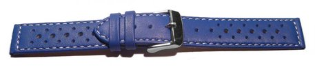 Watch strap - genuine leather - Style - blue