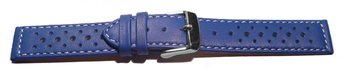 Watch strap - buckle - genuine leather - Style - blue