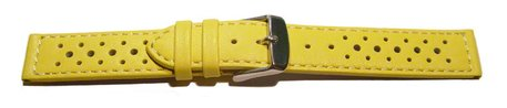 Watch strap - genuine leather - Style - yellow