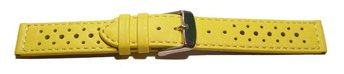 Watch strap - buckle - genuine leather - Style - yellow