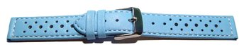Watch strap - buckle - genuine leather - Style - light blue