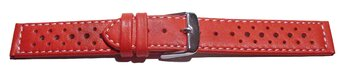 Watch strap - buckle - genuine leather - Style - red