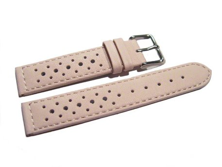 Watch strap - genuine leather - Style - light pink