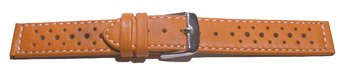 Watch strap - genuine leather - Style - orange