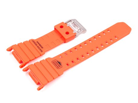 Rescue Orange Resin Replacement Watch Band Casio for DW-D5500MR-4JF, DW-D5000MR