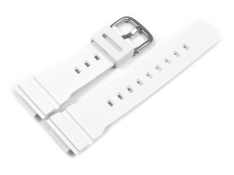 Genuine Casio Replacement White Resin Watch Strap for BA-112-7, BA-112