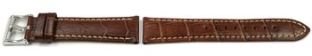 Brown Leather Watch Band Lotus for 15414