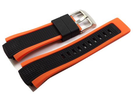 Watch strap by Festina PV black/orange for F6727/5 and F6738
