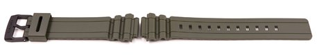 Casio Olive Green Resin Watch Strap for MRW-S300H-3, MRW-S300H