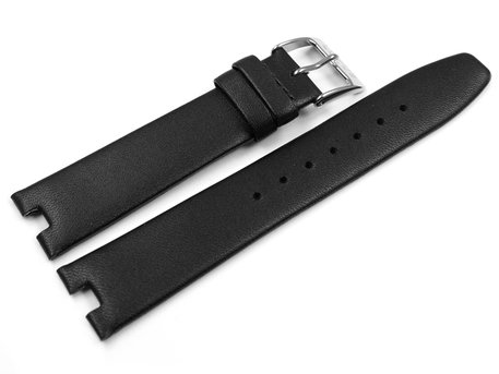 Lotus Black Leather Watch Band for 15840