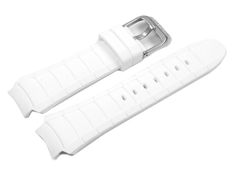 White Rubber Watch Strap by Lotus for 15701 15702
