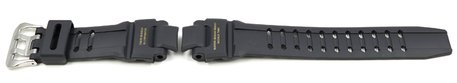 Casio Black Resin Watch Strap with gold coloured lettering for GA-1100-9, GA-1100