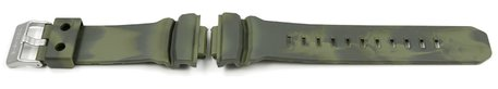 Green Camouflage Resin Watch strap Casio f. GA-100MM-3