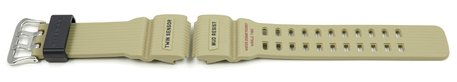 Casio Military Beige Resin Replacement Watch Strap for GG-1000-1A5, GG-1000-1A5ER