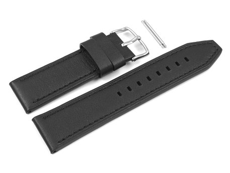 Casio Replacement Black Leather Watch Strap for EFR-538L, EFR-538L-1AV