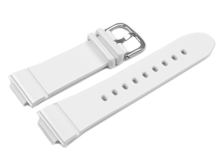 Genuine Casio Replacement White Resin Watch Strap BGA-132, BGA-132-7B