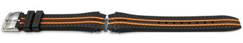 Lotus Black Watch Strap with Orange Stripes for 18260/1...
