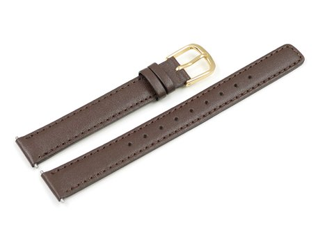 Casio Brown Leather Watch strap for LA670WEGL-9, LA670WEGL-9EF