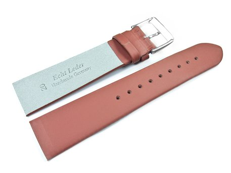 Terracotta colored Watch Strap suitable for SKW6082 Leather Watch Strap