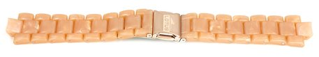 Lotus Rose Gold Coloured Rubber Replacement Strap for 15911/1