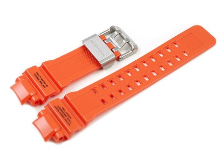 Genuine Casio Orange Resin Replacement Watch Strap GW-A1100R-4A, GW-A1100R-4, GW-A1100R-4AER