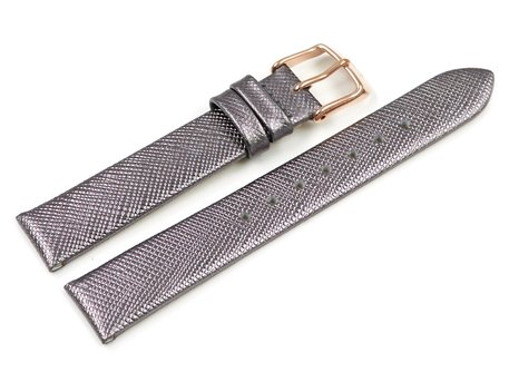Lotus Luminous Grey (Taupe) Leather Watch Strap for 18229/3