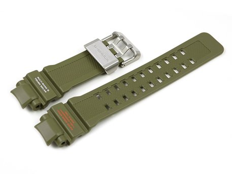 Casio Military Green Resin Watch Strap f. GW-A1100KH-3, GW-A1100KH-3A