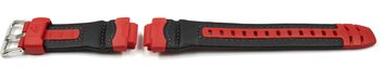 Genuine Casio Red and Black Resin Watch Strap for...