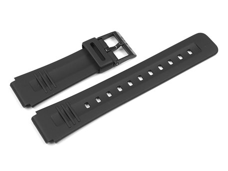 Genuine Casio Replacement Black Resin Watch Strap for DB-V30-1, DB-V30