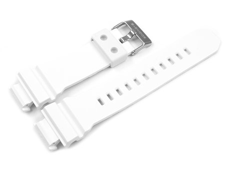 Genuine Casio White Resin Replacement Watch Strap GD-X6900FB-7, GD-X6900FB