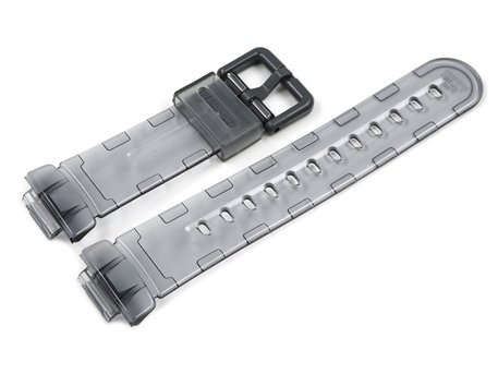 Milky grey transparent Watch Strap Casio f. BG-169R-8B, BG-169R-8