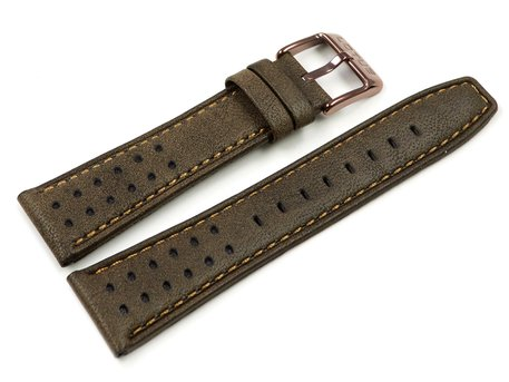 Lotus Replacement Brown Leather Watch Strap for 18243/1 18243/2 18243